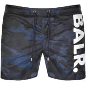 Product Image for BALR Camouflage Logo Swim Shorts Navy